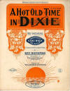 A Hot Old Time in Dixie Sheet Music