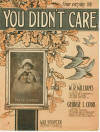 You Didn't Care Sheet Music Cover